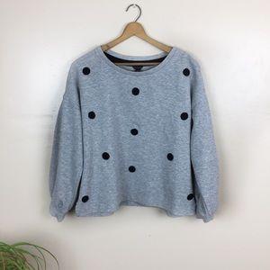 [Ann Taylor] Pullover Polka Dot Sweatshirt